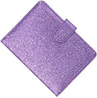 a1fee244c0fc TENDYCOCO Glitter Passport Holder, Travel Wallet RFID Blocking Credit Card  Case Multi-functional Leather Passport Sleeve with Magnet Closure (Purple)