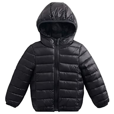 cdc4df6491cf Baby Kids Down Jackets Winter Hooded Coats Lightweight Puffer Jacket ...