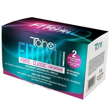 Tahe Fitoxil Forte Classic Tratamiento Concentrado Anticaída del Cabello para Hombre o Mujer sin Parabenos,