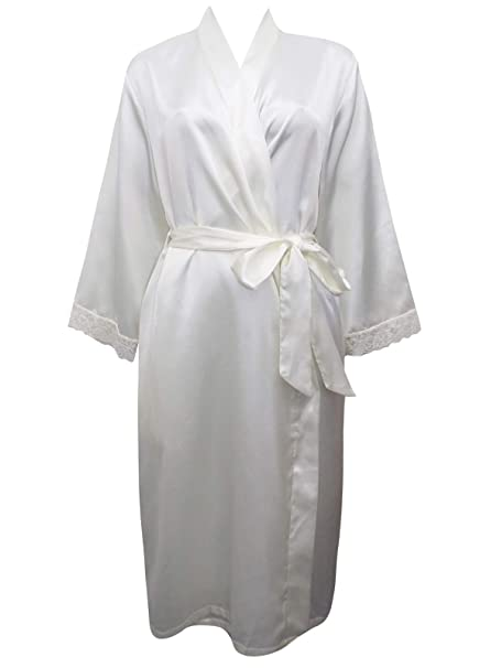 LADIES EX STORE RED PLUS SIZE LONG  SATIN DRESSING GOWN//ROBE UK SIZE 16 /& 26