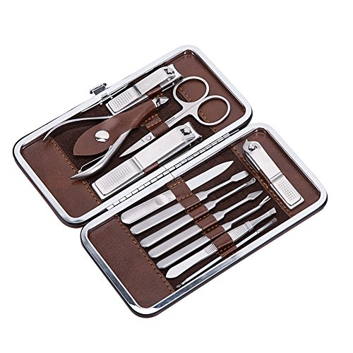 Corewill Manicure & Pedicure Set Nail Clippers 12 in 1 Grooming Kit Stainless Steel with Portable Travel (Mens Grooming Kit)
