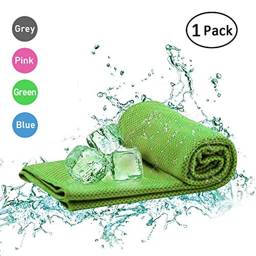 Cooling Towel (40x12''& 40x20''& 51x36''), Ice Towel, Soft Breathable Chilly Towel, Microfiber Towel for Yoga, Sport, Running, Gym, Workout,Camping, Fitness