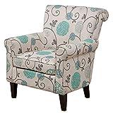 Roseville Blue Floral Club Chair