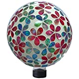 Very Cool Stuff GLMFP102 VCS Flower Power Mosaic Glass Globe, 10''