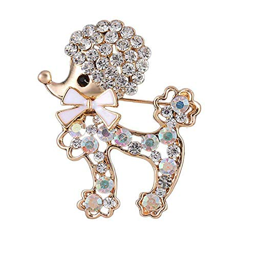 JewelryPal Love Dog Animal Brooch Pin for Party Ladies Women Dresses