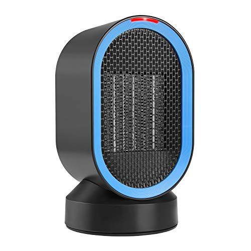 Fitfirst 600 Watt Ceramic Space Heater, Portable Mini Desktop Heater Smart Touch Control,Quick Heat-up, Ultra Quite, Auto- Oscillation for Office Table Home Dorm by Fitfirst