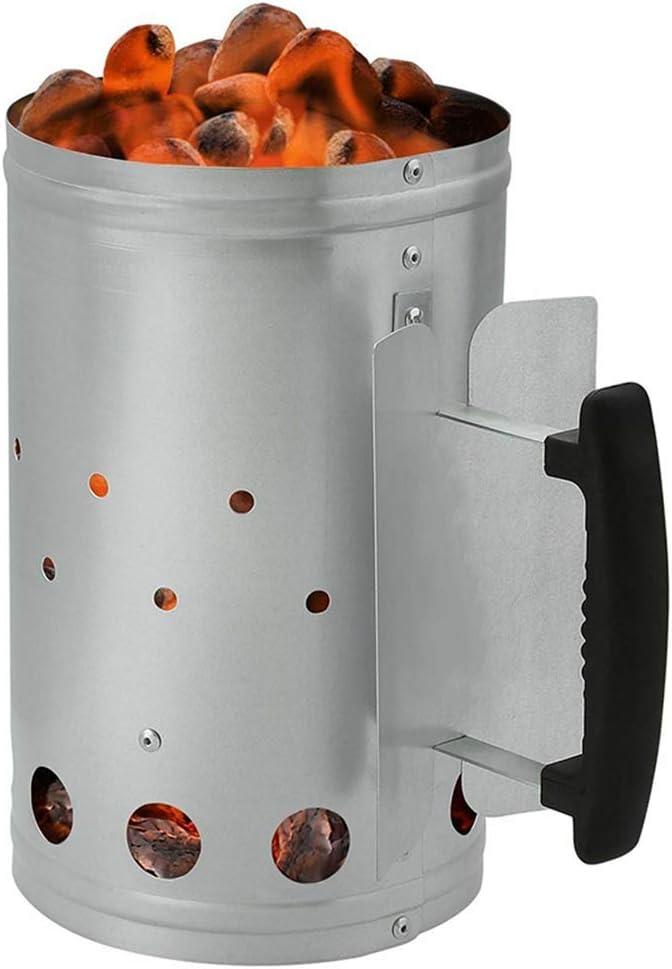 Nrpfell al Aire Libre Barbacoa Chimenea Arrancador BBQ Fuego Estufa Barril de Fuego Carb/ón de Le?a Barril de Encendido Carbono Parrilla Acero Encendedor Horno de Carbono