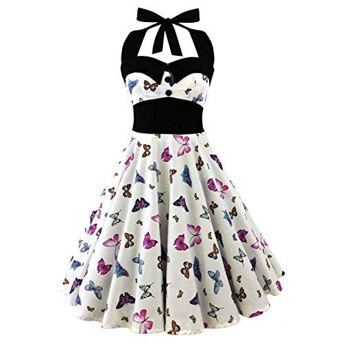 Vintage kleid kurz weib