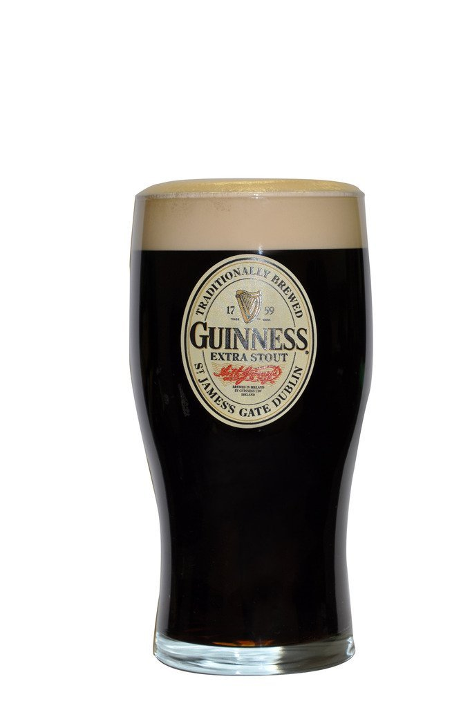 Guinness Oval Label Pint Glass GNS5190-Single