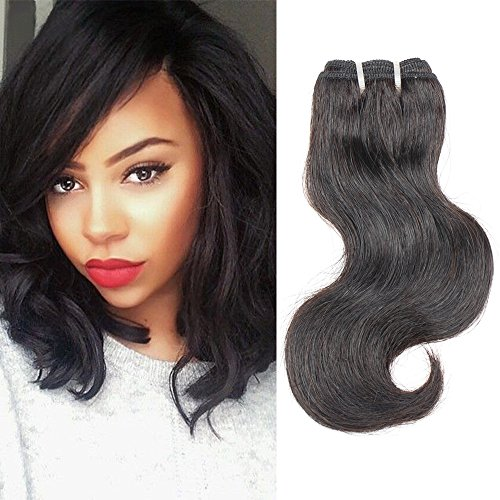 Brazilian Body Wave 1 Bundle Unprocessed Virgin Human Hair Natural Black Body Wave Short Hair Extensions 35g/pcs