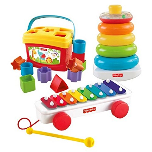 Fisher-Price Classic Infant Trio Baby Gift Set (Toy Baby Trio)