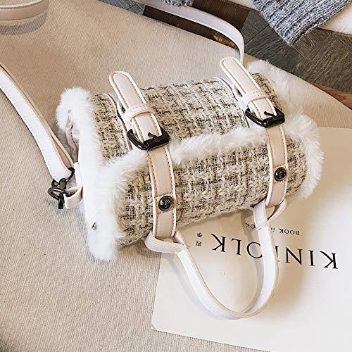 Petit Xmy Blanc Sac Messenger À Sauvage Carré Fashion Femelle Bandoulière OOTw0r