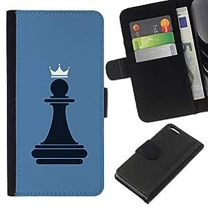 All Phone Most Case / Oferta Especial Cáscara Funda de cuero Monedero Cubierta de proteccion Caso / Wallet Case for Apple Iphone 5C // Chess Pawn Queen
