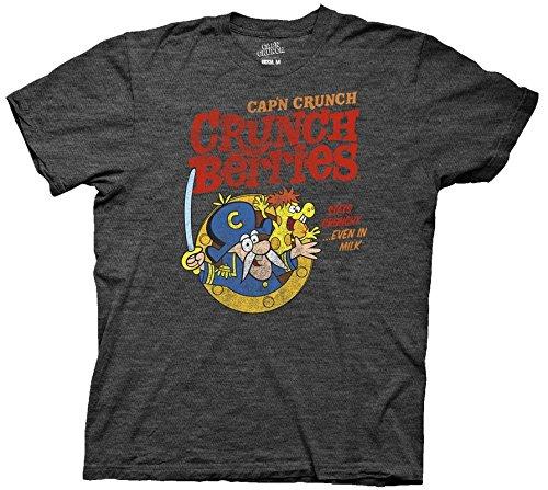 Ripple Junction Cap'n Crunch Crunch Berries Adult T-Shirt Medium Heather Charcoal