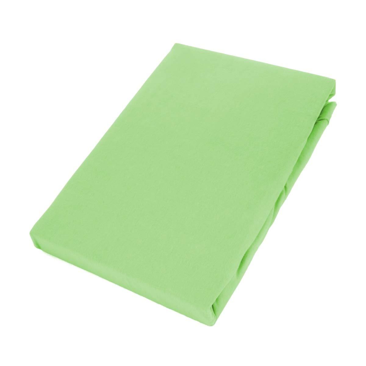 Etérea Jersey - Sábana Bajera Ajustable Comfort - Algodón, 100% algodón, Verde Manzana, 180x200 cm - 200x200 cm: Amazon.es: Hogar