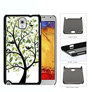 Tree With Green Leaves And Birds Nesting Hard Plastic Snap On Cell Phone Case Samsung Galaxy Note 3 III N9000 N9002 N9005 by runtopwell