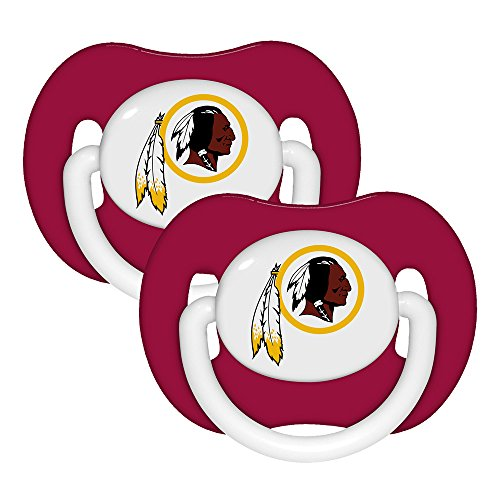 [Baby Fanatic Pacifier (2 Pack) - Washington Redskins Team Colors] (Baby Fanatic Pacifier)