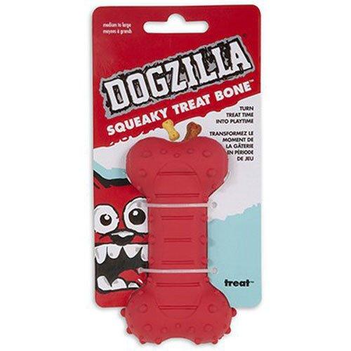 Petmate Dogzilla Squeaky Bone Chew Toy, Medium (Bone Squeaky)
