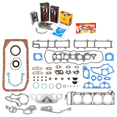 Pickup Set Bearing Main (Domestic Gaskets Engine Rering Kit FSBRR2000\0\0\0 Fits 85-95 Toyota 4Runner Pickup Celica 22R 22RE 22REC Full Gasket Set, Standard Size Main Rod Bearings, Standard Size Piston Rings)