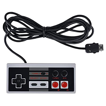 NES Classic Controller Turbo Edition, approx 10 Feet Long Cord, Retro Gray, with B+A Function, Nes Game Controller for Nes 2016 Mini, NES Controller for Nintendo Entertainment System, Cacly