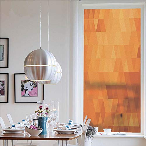 3D Window Films Privacy Film Static Decorative Film,Triangle Mosaic Shaded Shapes and Patterns Abstract Digital Pixel Decorative Home Decorative(23