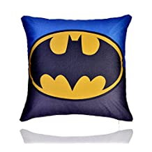 """REINDEAR 18"""" Premium Comics Superhero Cotton Linen Decorative Pillow Cover Cushion Case US Seller (Batman)"""