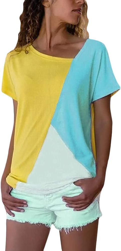 Minetom Mujeres Verano Camisetas Pullover Casual Camisa Manga ...