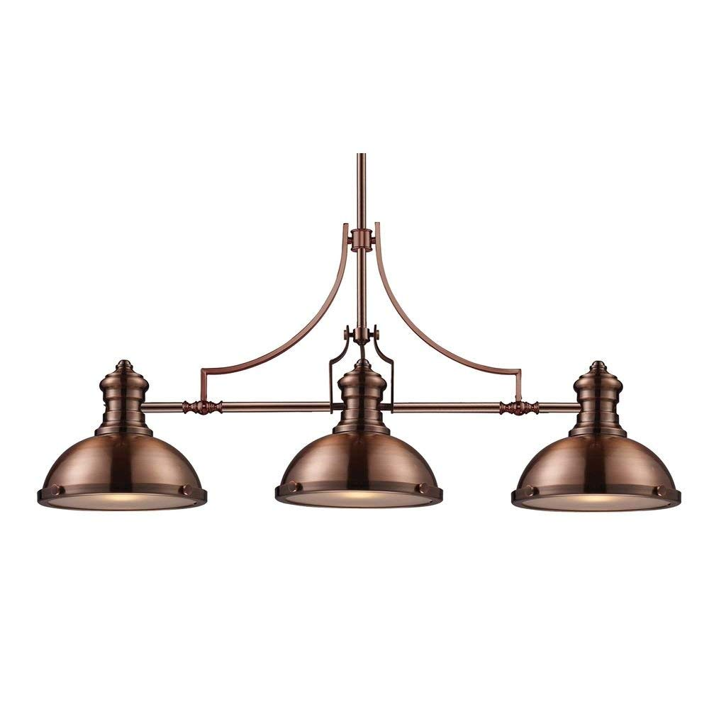 Elk 66145-3 Chadwick 3-Light Billiard Light, 21-Inch, Antique Copper