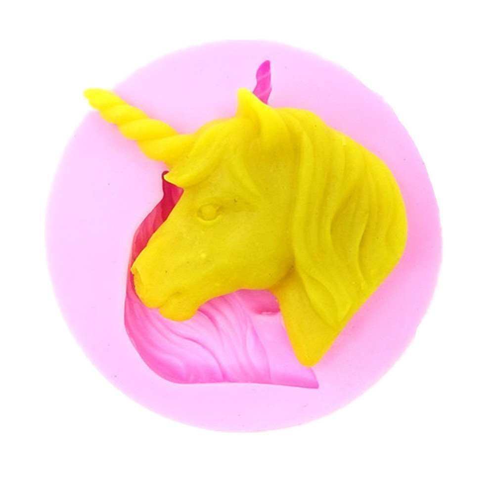 ODN Pink Silicone Unicorn Mould Baking Biscuit Chocolate Candy Mould
