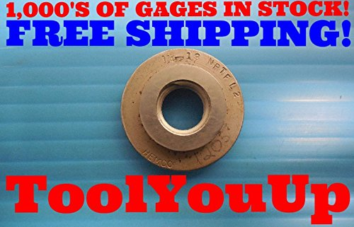1/4 - 18 NPTF L2 PIPE THREAD RING GAGE .250 N.P.T.F. L-2 INSPECTION TOOLING