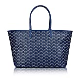 Stylesty Designer Shopping PU Tote Bag Set, Fashion Women Shoulder Handbags with Key Ring (Medium, Borland)