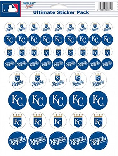 MLB Kansas City Royals Vinyl Sticker Sheet, 8.5