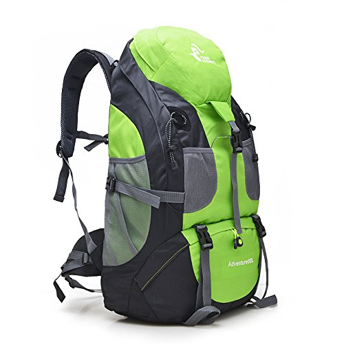 Free Knight 50L Hiking Daypacks Hiking Travel Backpack Camping Rucksack (Green)