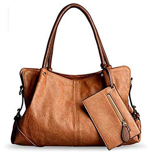 UTO Women Hobo Purse 3 Pieces Handbag Set PU Leather Tote Bag Satchel Shoulder Bags with Wristlet Wallet -
