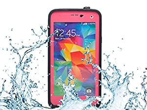 VWTECH Waterproof Dustproof Snowproof Shockproof Hard Armor Protective Cover Case For Samsung Galaxy S5 (Rose Red)