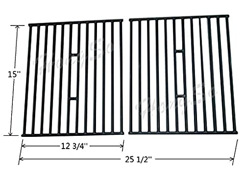 Hongso PCD362 Matt Cast Iron Cooking Grid Replacement for Select Gas Grill Models by Broil King, Broil-Mate and Others, Set of (Broil King Signet)