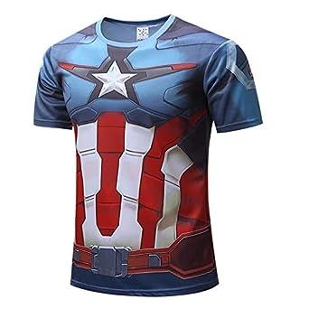 c4aa4877 Captain America T shirt, Avengers, 3D Printed, Hulk, Ironman, Thor, Batman,  Spiderman, Superman, Flash, Superhero, jersey T-shirts. Gym wear, Sports  wear, ...