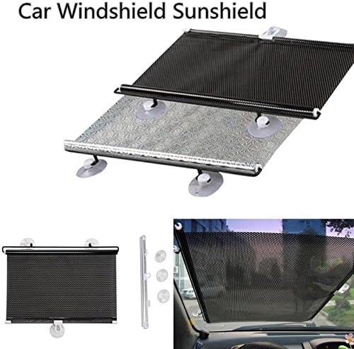 Splitter 60x40cm Auto einziehbare Windschutzscheibe Markise f/ür Cover Sonnenschutz Sonnenschutz Hanbaili schwarz