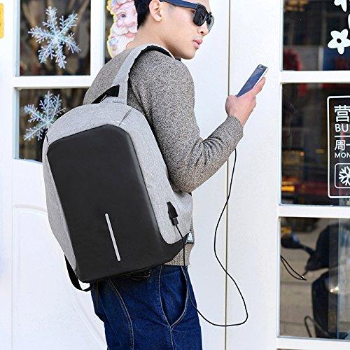 Mefly Computer Rucksack Diebstahlsicherung Computer Rucksack Männliche Business Travel Usb Aufladen Studenten gray