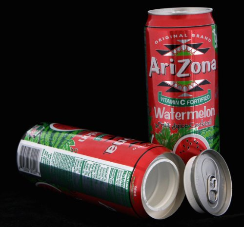 Arizona Watermelon Safe Can Hidden Stash+Free Pack of 1 1/4 Rasta Wrap (Stash Cans)