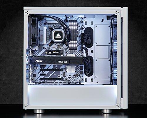the best attitude d2a8e e3695 CORSAIR CARBIDE 275R Mid-Tower Gaming Case, Tempered Glass- White  (CC-9011133-WW)