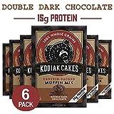 Kodiak Cakes Power Bake Muffin Mix, Double Dark Chocolate, 14 Ounce (Pack of 6)