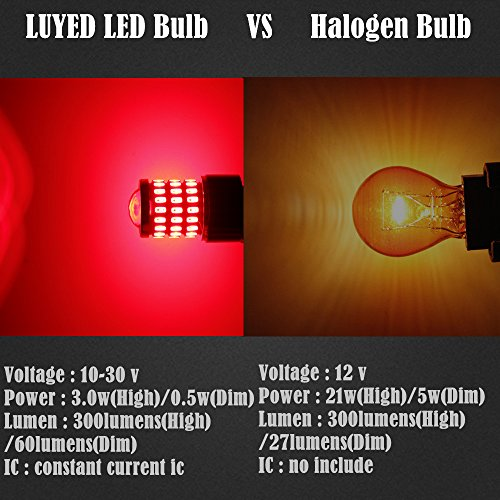 LUYED 2 x Super Bright 9-30v 3156 3157 3057 4157 LED Bulbs