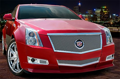 E&g Stainless Steel Mesh Grill - E&G Classics® Cadillac CTS  2 Pc Classic Heavy Metal Mesh Grille (Main & Bumper Grille) 2008-2013