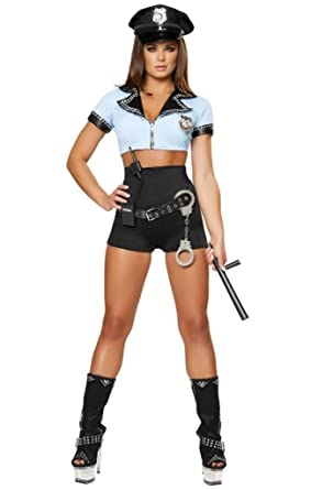 Sexy Eight Piece Pin Up Cop Girl Halloween Costume  sc 1 st  Amazon.com & Amazon.com: Sexy Eight Piece Pin Up Cop Girl Halloween Costume: Clothing