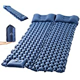 Sleeping Pad for Camping, LUXEAR Inflatable Camping Pad for 2 Person Foot Press Lightweight Backpacking Mat for Hiking Travel Camping Durable Waterproof Air Mattress Compact Hiking Pad (Color: Blue, Tamaño: Full)