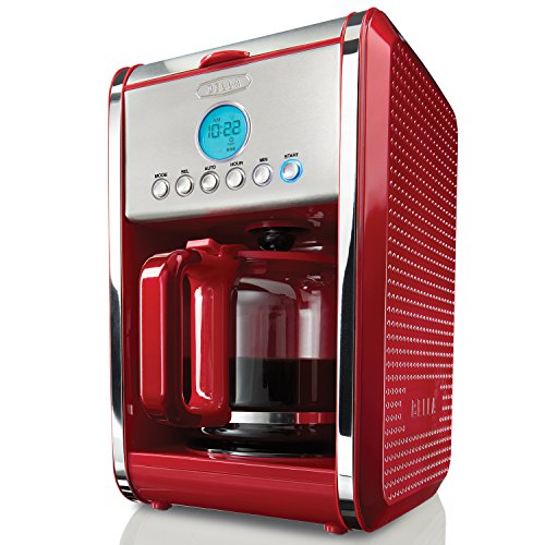 BELLA 13839 Dots Collection 12-Cup Programmable Coffee Maker, Red (Bella Permanent Coffee Filter compare prices)