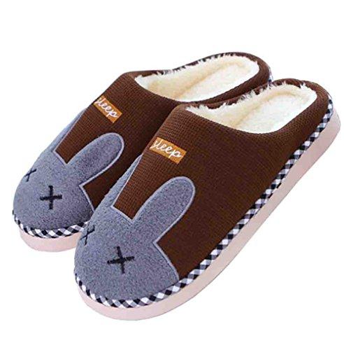 Ciabatte Calde Dellinterno Del Coniglio Di Inverno Delle Donne Pantofole Calde Pantofole Domestiche Delle Scarpe