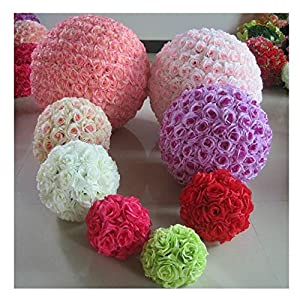 5 PCS HOT SELL Colorful High Quality, 15~40CM Rose Pomander Flower Kissing Ball 88