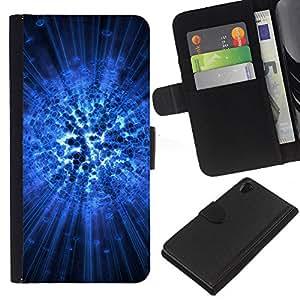 Ihec-Tech / Flip PU Cuero Cover Case para Sony Xperia Z2 D6502 D6503 D6543 L50t - Amazing abstract art